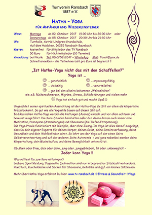 Flyer Hatha Yoga